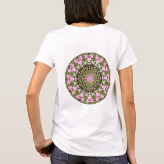 Camiseta Mandala da flor, corações de sangramento 02.0_rd