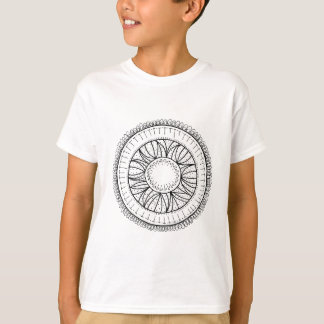 Camiseta mandala da flor do dente-de-leão
