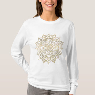 Camiseta Mandala do ouro & na moda Glam moderno chique