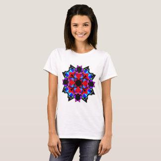 Camiseta mandala do vidro da cor