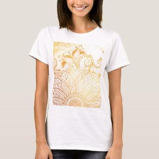 Camiseta Mandala - escova dourada