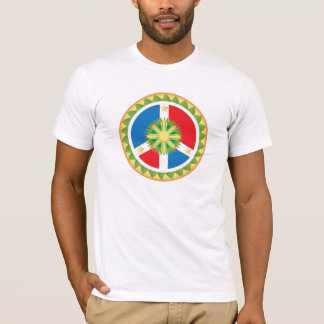 Camiseta Mandala filipina do sinal de paz
