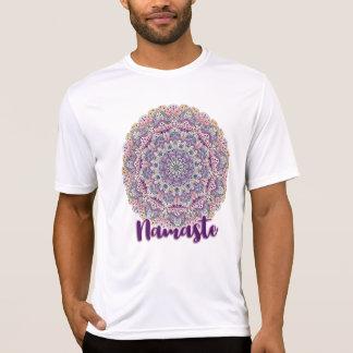 Camiseta Mandala floral cor-de-rosa de Namaste e roxa