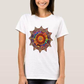Camiseta Mandala simbólica de Sun do ouro