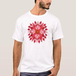 Camiseta Mandala vermelha do sol de paisley
