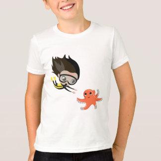 Camiseta Mandy e bolhas o polvo