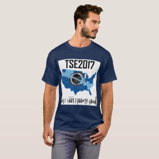 Camiseta Maneira 2017 Eclipse-nova solar total de escrever