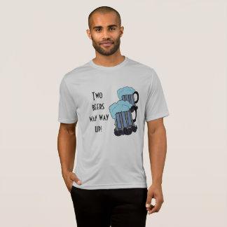 Camiseta Maneira da maneira de duas cervejas acima!