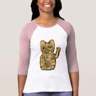 Camiseta Maneki dourado Neko