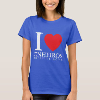 Camiseta Manga Curta Feminina I <3 Pinheiros