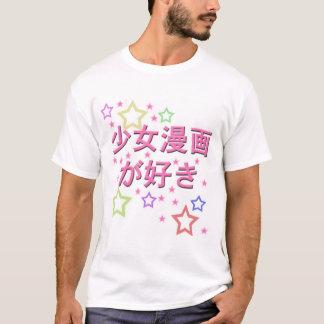 Camiseta Manga-Estrelas de Shoujo