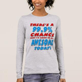 Camiseta Manga Longa 99,9% IR SER IMPRESSIONANTE (preto)