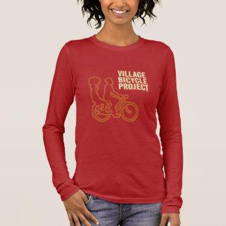 Camiseta Manga Longa A luva longa das mulheres da bicicleta