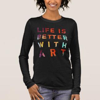 Camiseta Manga Longa A vida é melhor com arte