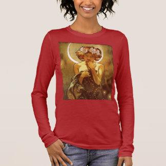 Camiseta Manga Longa Alfons Mucha: Luna