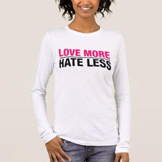 Camiseta Manga Longa Ame mais ódio menos