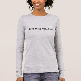Camiseta Manga Longa Ame mais/ódio menos T