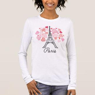 Camiseta Manga Longa Amor de Paris, France