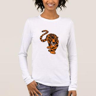Camiseta Manga Longa Arte de desengaço artística do tigre