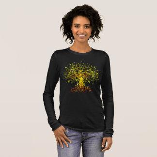 Camiseta Manga Longa Árvore de vida colorida