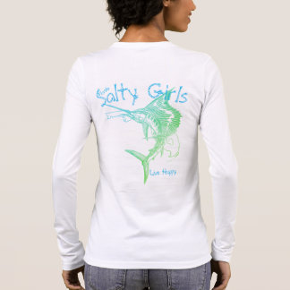 Camiseta Manga Longa As meninas salgados vivem Sailfish feliz