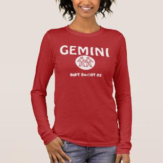 Camiseta Manga Longa Astrologia - luva longa dos Gêmeos