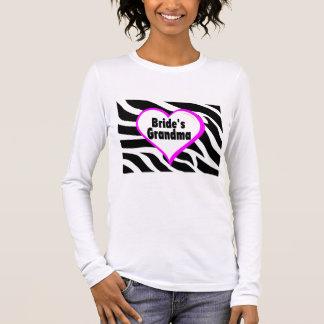 Camiseta Manga Longa Avó das noivas (impressão da zebra do coração)
