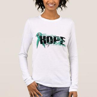 Camiseta Manga Longa Avó meu herói - esperança ovariana