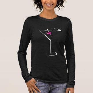 Camiseta Manga Longa Azeitona cor-de-rosa bartending de Martini do