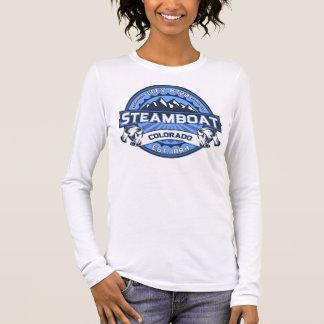 Camiseta Manga Longa Azul do barco a vapor