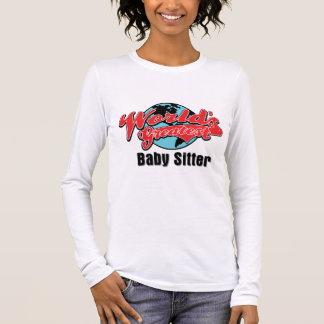 Camiseta Manga Longa Baby-sitter de bebê dos mundos o grande