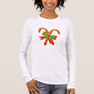 Camiseta Manga Longa Bastões do Natal