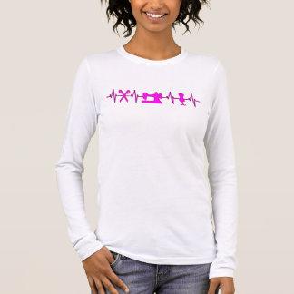 Camiseta Manga Longa Batimentos cardíacos de EKG para sewing