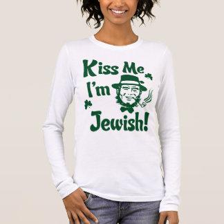 Camiseta Manga Longa Beije-me, mim são judaico