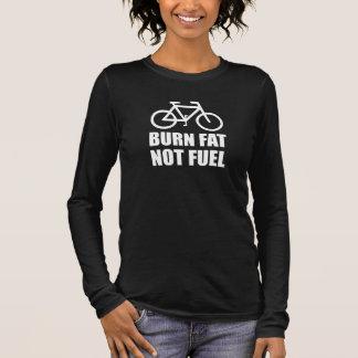 Camiseta Manga Longa Bicicleta do combustível da gordura da queimadura