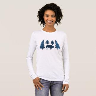 Camiseta Manga Longa Búfalo/bisonte