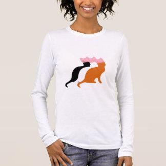 Camiseta Manga Longa Camisola dos direitos das mulheres cor-de-rosa do