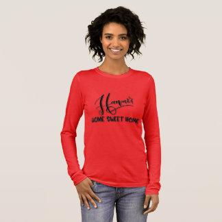 Camiseta Manga Longa Casa doce Home de Havaí - presente patriótico para
