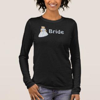 Camiseta Manga Longa Casamento da noiva do urso de ursinho