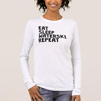 Camiseta Manga Longa Coma a repetição de Waterski do sono