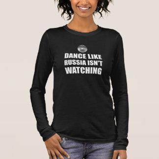 Camiseta Manga Longa Dança como Rússia que não olha