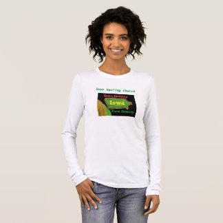 Camiseta Manga Longa Das mulheres curas de Iowa da igreja da esperança