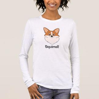 """Camiseta Manga Longa Desenhos animados cativados """"esquilo """" do Corgi"""