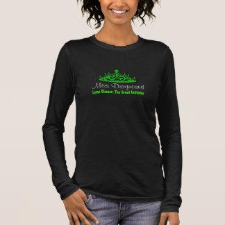 Camiseta Manga Longa Doença de Lyme da senhorita Diagnóstico