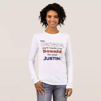 Camiseta Manga Longa Donald de comércio engraçado para t-shirt do