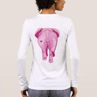 Camiseta Manga Longa Elefante cor-de-rosa SWAK