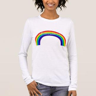 Camiseta Manga Longa Em algum lugar sobre o arco-íris