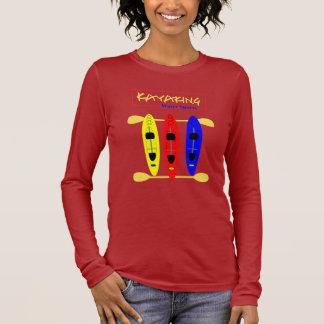 Camiseta Manga Longa Esportes de água Kayaking - gráfico temático