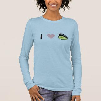 Camiseta Manga Longa Eu amo abacates