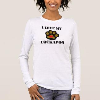 Camiseta Manga Longa Eu amo meu Cockapoo